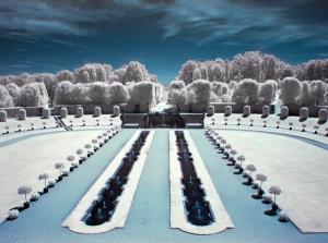 Barokowe ogrody Grosssedlitz. Biało, choć... nie zima :)